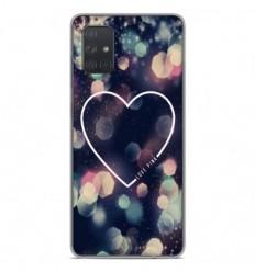Coque en silicone Samsung Galaxy A51 - Coeur Love