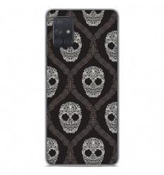 Coque en silicone Samsung Galaxy A51 - Floral skull