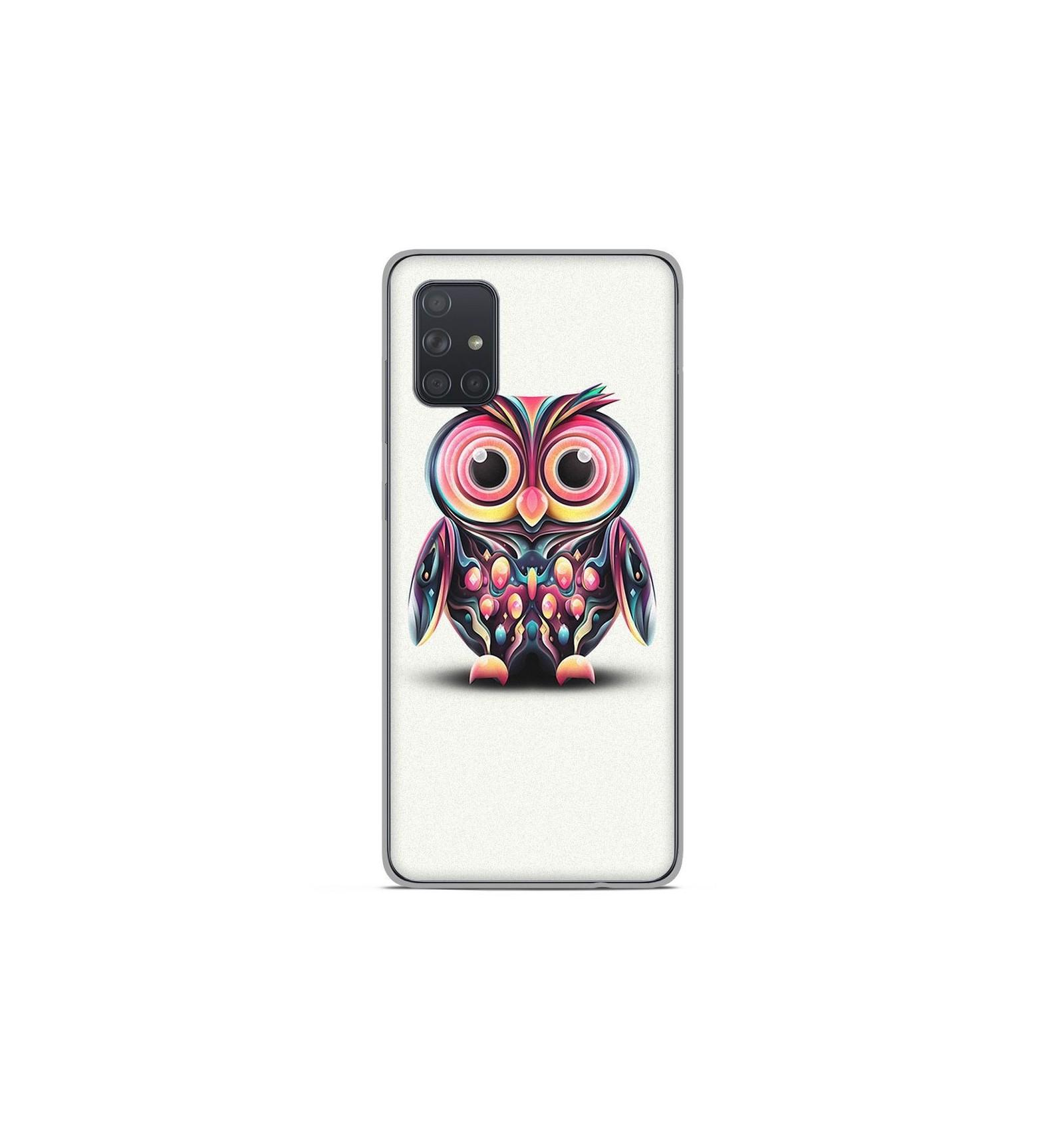 Coque en silicone Samsung Galaxy A51 - Hiboux coloré