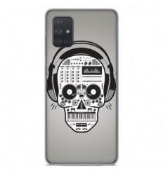 Coque en silicone Samsung Galaxy A51 - Skull Music