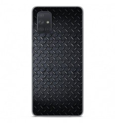 Coque en silicone Samsung Galaxy A51 - Texture metal
