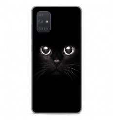 Coque en silicone Samsung Galaxy A51 - Yeux de chat