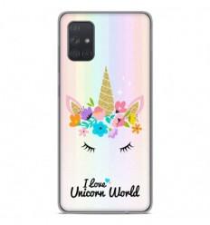 Coque en silicone Samsung Galaxy A51 - Unicorn World