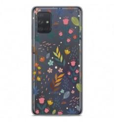 Coque en silicone Samsung Galaxy A51 - Fleurs colorées