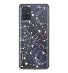 Coque en silicone Samsung Galaxy A51 - Lignes étoilées