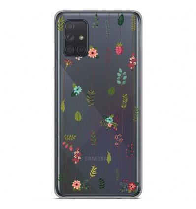 Coque en silicone Samsung Galaxy A51 - Montée de fleurs