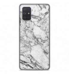 Coque en silicone Samsung Galaxy A71 - Marbre Blanc