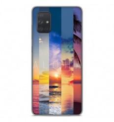 Coque en silicone Samsung Galaxy A71 - Aloha
