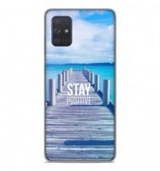 Coque en silicone Samsung Galaxy A71 - Stay positive