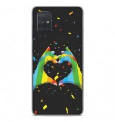 Coque en silicone Samsung Galaxy A71 - LGBT