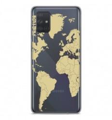 Coque en silicone Samsung Galaxy A71 - Map beige