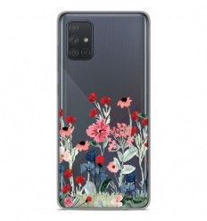 Coque en silicone Samsung Galaxy A71 - Printemps en fleurs