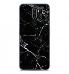 Coque en silicone Oppo A5 2020 - Marbre Noir