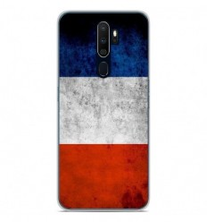 Coque en silicone Oppo A9 2020 - Drapeau France