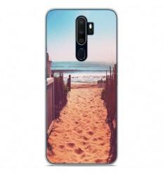 Coque en silicone Oppo A9 2020 - Chemin de plage
