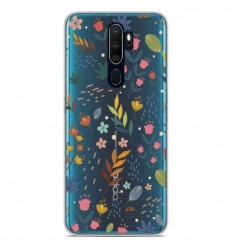 Coque en silicone Oppo A9 2020 - Fleurs colorées