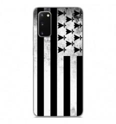 Coque en silicone Samsung Galaxy S20 - Drapeau Bretagne