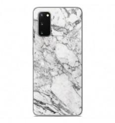 Coque en silicone Samsung Galaxy S20 - Marbre Blanc