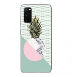 Coque en silicone Samsung Galaxy S20 - Ananas marbre