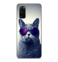 Coque en silicone Samsung Galaxy S20 - Chat à lunette