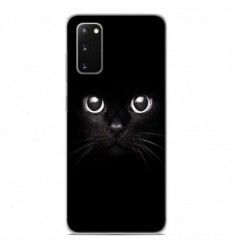 Coque en silicone Samsung Galaxy S20 - Yeux de chat