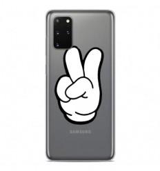 Coque en silicone Samsung Galaxy S20 Plus - Swag Hand Blanc