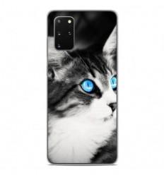 Coque en silicone Samsung Galaxy S20 Plus - Chat yeux bleu