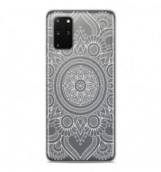 Coque en silicone Samsung Galaxy S20 Plus - Mandala blanc