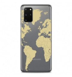 Coque en silicone Samsung Galaxy S20 Plus - Map beige