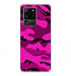 Coque en silicone Samsung Galaxy S20 Ultra - Camouflage rose