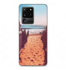 Coque en silicone Samsung Galaxy S20 Ultra - Chemin de plage
