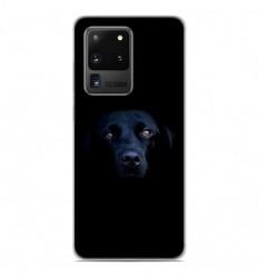 Coque en silicone Samsung Galaxy S20 Ultra - Chien noir