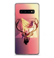 Coque en silicone Samsung Galaxy S10 Plus - Cerf Hipster