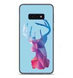 Coque en silicone Samsung Galaxy S10e - Cerf Hipster Bleu
