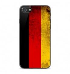 Coque en silicone Apple iPhone SE 2020 - Drapeau Allemagne