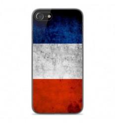 Coque en silicone Apple iPhone SE 2020 - Drapeau France