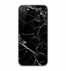 Coque en silicone Apple iPhone SE 2020 - Marbre Noir