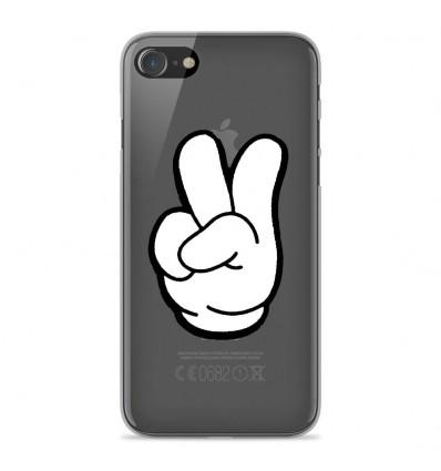 Coque en silicone Apple iPhone SE 2020 - Swag Hand Blanc
