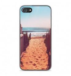 Coque en silicone Apple iPhone SE 2020 - Chemin de plage