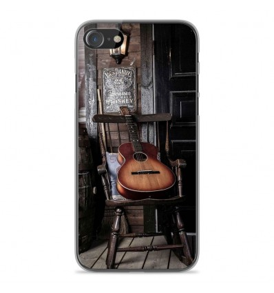 Coque en silicone Apple iPhone SE 2020 - Guitare