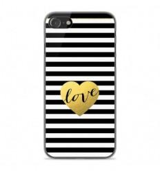 Coque en silicone Apple iPhone SE 2020 - Love bariolé