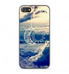 Coque en silicone Apple iPhone SE 2020 - Lune soleil