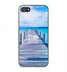 Coque en silicone Apple iPhone SE 2020 - Stay positive