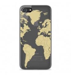 Coque en silicone Apple iPhone SE 2020 - Map beige
