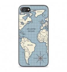 Coque en silicone Apple iPhone SE 2020 - Map vintage