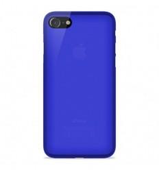 Coque Apple iPhone SE 2020 Silicone Gel givré - Bleu Translucide