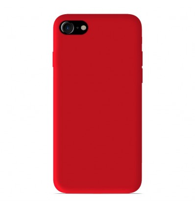 Coque Apple iPhone SE 2020 Silicone Gel mat - Rouge Mat