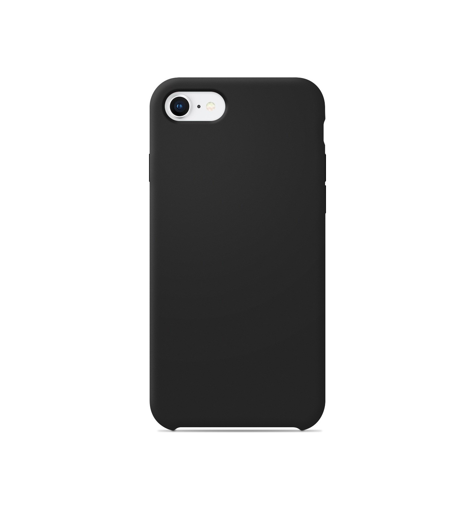 coque apple iphone se 2020 silicone soft touch noir