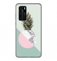 Coque en silicone Huawei P40 - Ananas marbre