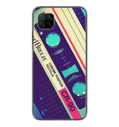 Coque en silicone Huawei P40 Lite - Cassette Vintage